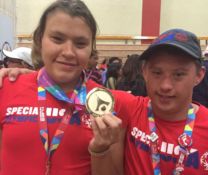 Christine Quick, 23, and CJ Umbs, 21, competed in the Special Olympics World Games in L.A. (Photo by Michelle Umbs)