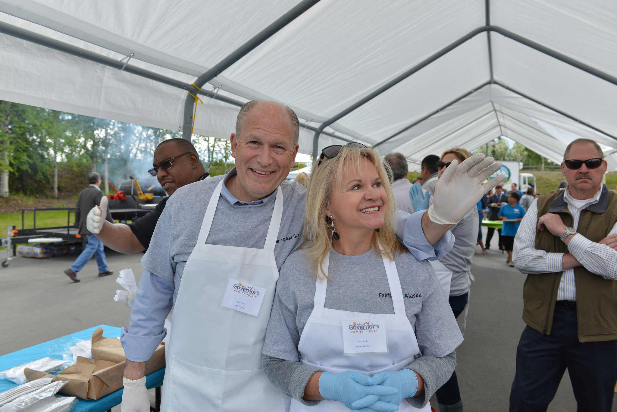 Gov. Bill Walker and first lady Donna Walker at the governor's picnic in Fairbanks, June 7. (Creative Commons photo by Alaska Governor Bill Walker)