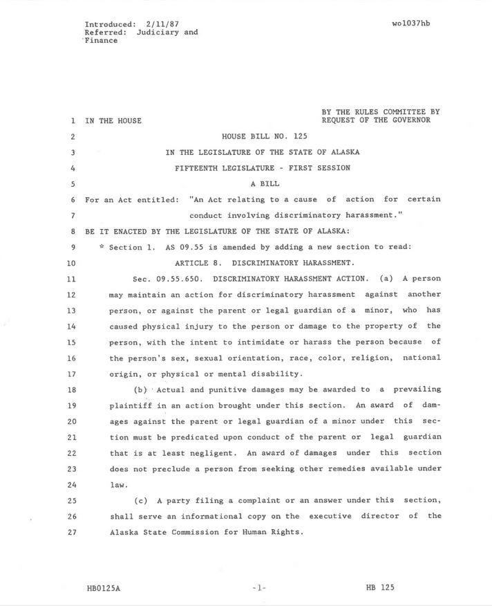 Copy of bill 125, from 15th legislative session.