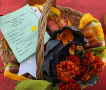 An award winning basket from the 2015 Harvest Fair.