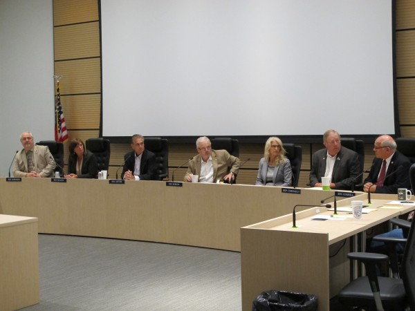 At a meeting in Anchorage on Tuesday morning, the Legislative Council voted to spend up to $450,000 on legal assistance to fight Medicaid expansion in court. (Annie Feidt/APRN)
