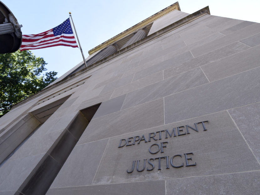 The Justice Department building in Washington, D.C. on Thursday, Aug. 27, 2015. Susan Walsh/AP