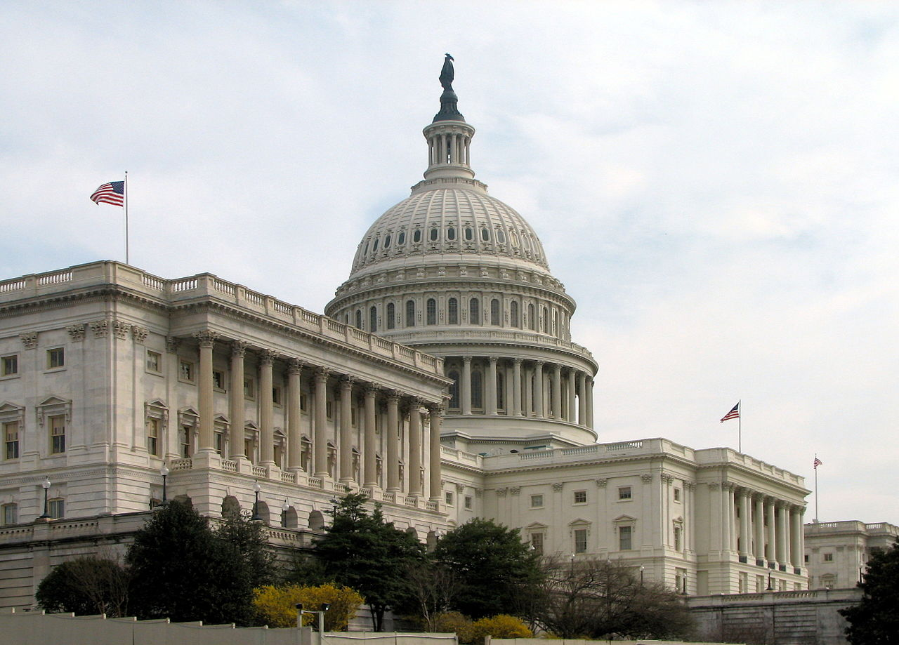The Senate's side of the Capitol Building in Washington, D.C.