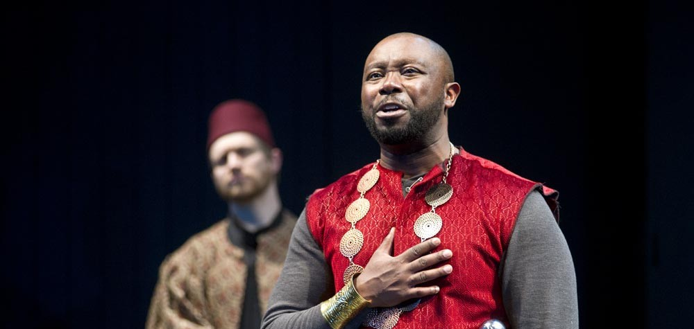 Rehearsal of William Shakespeare's Othello at Perseverance Theatre. (Photo by Michael Penn courtesy The Juneau Empire)