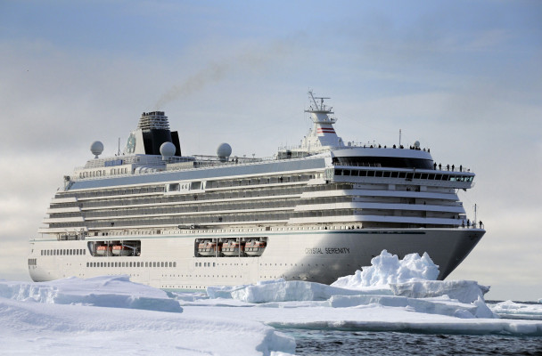 The Crystal Serenity, carrying 1,000 passengers, will stopover in Nome next summer en-route to the Northwest Passage. (Photo courtesy of Crystal Cruises)