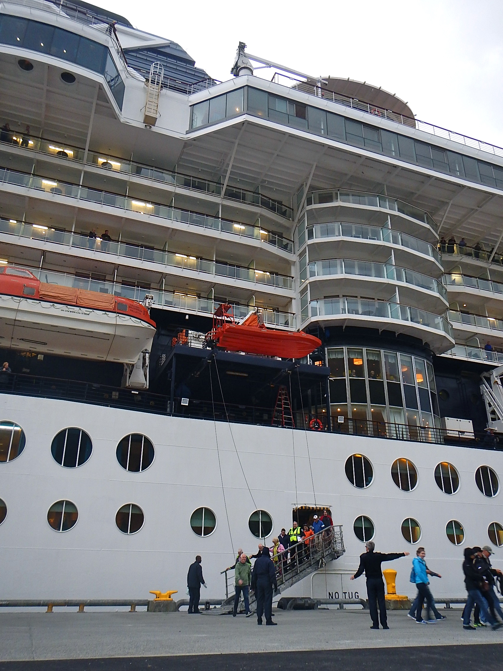 The Celebrity Millennium and another smaller cruise ship doubled Unalaska's population for a day when about 3,800 people disembarked from the vessels. (Photo by John Ryan/KUCB)