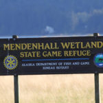 Mendenhall Wetlands sign
