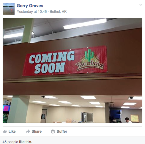 Word is spreading among Bethel residents that a new chain restaurant is coming to town. (Facebook screenshot)