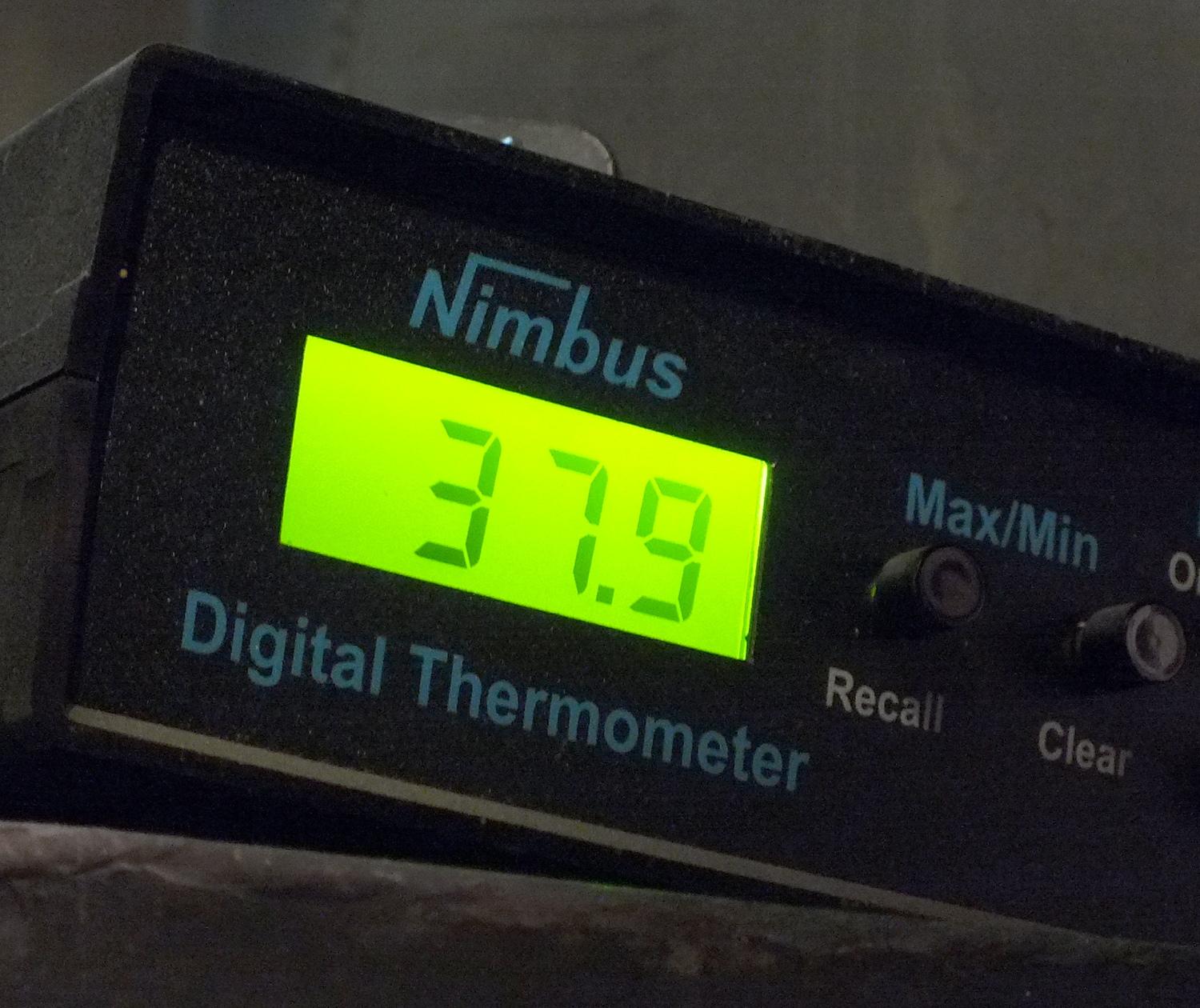 Thermometer located on the downtown Juneau waterfront recorded a low temperature that was only six degrees above freezing on the  night of Sept. 21, 2015. (Photo by Matt Miller/KTOO)