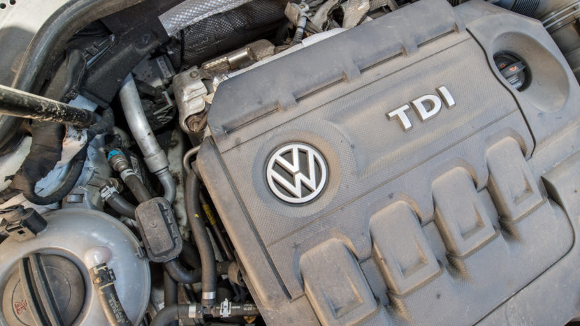 Diesel car engines like this one in a 2012 Volkswagen Golf are among those that include software that circumvents EPA emissions standards for certain air pollutants.