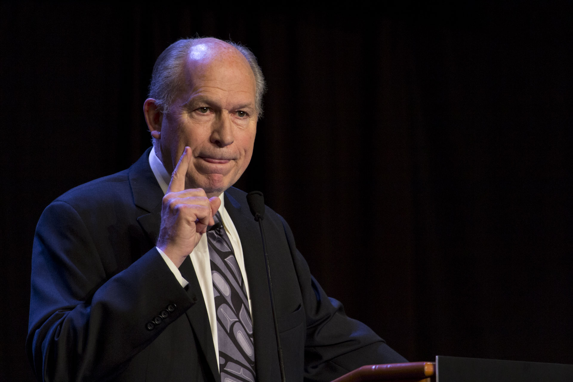 Gov. Bill Walker addresses the 49th annual Alaska Federation of Natives conference in Anchorage. (Photo by Mikko Wilson/KTOO)