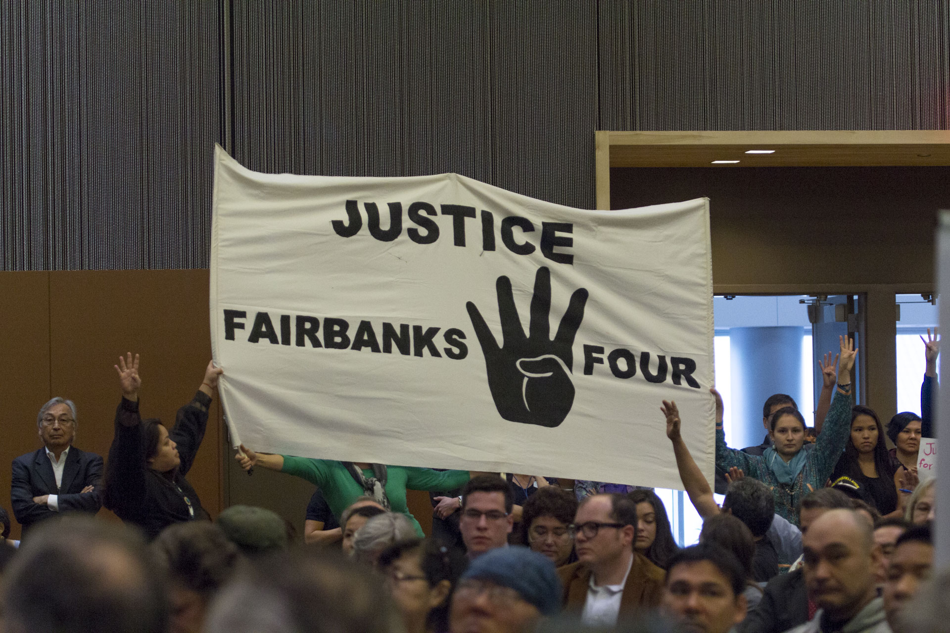 Fairbanks Four Banner at AFN 2015