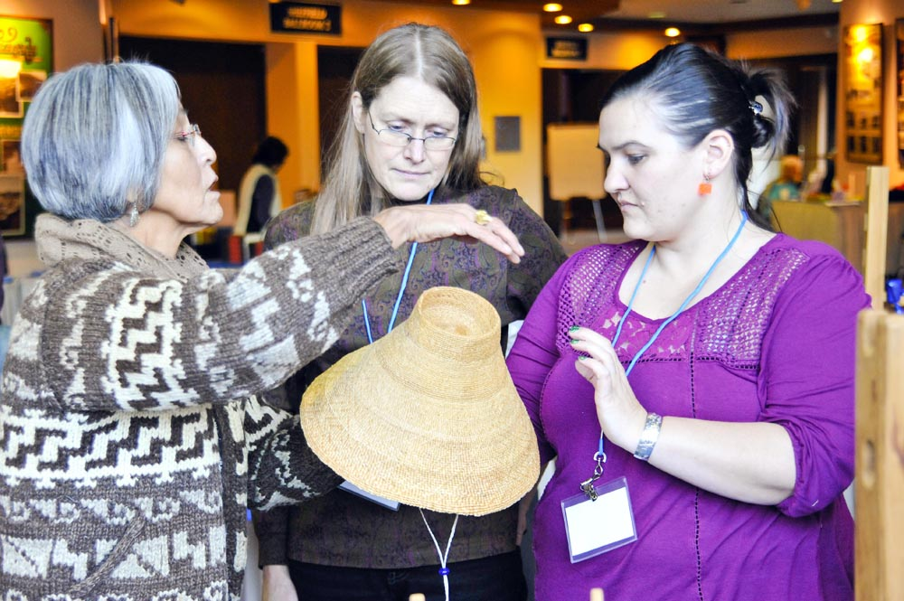 Ernestine Hanlon, Lorraine DeAsis at clan conference 2013. (Photo courtesy Peter Metcalfe)