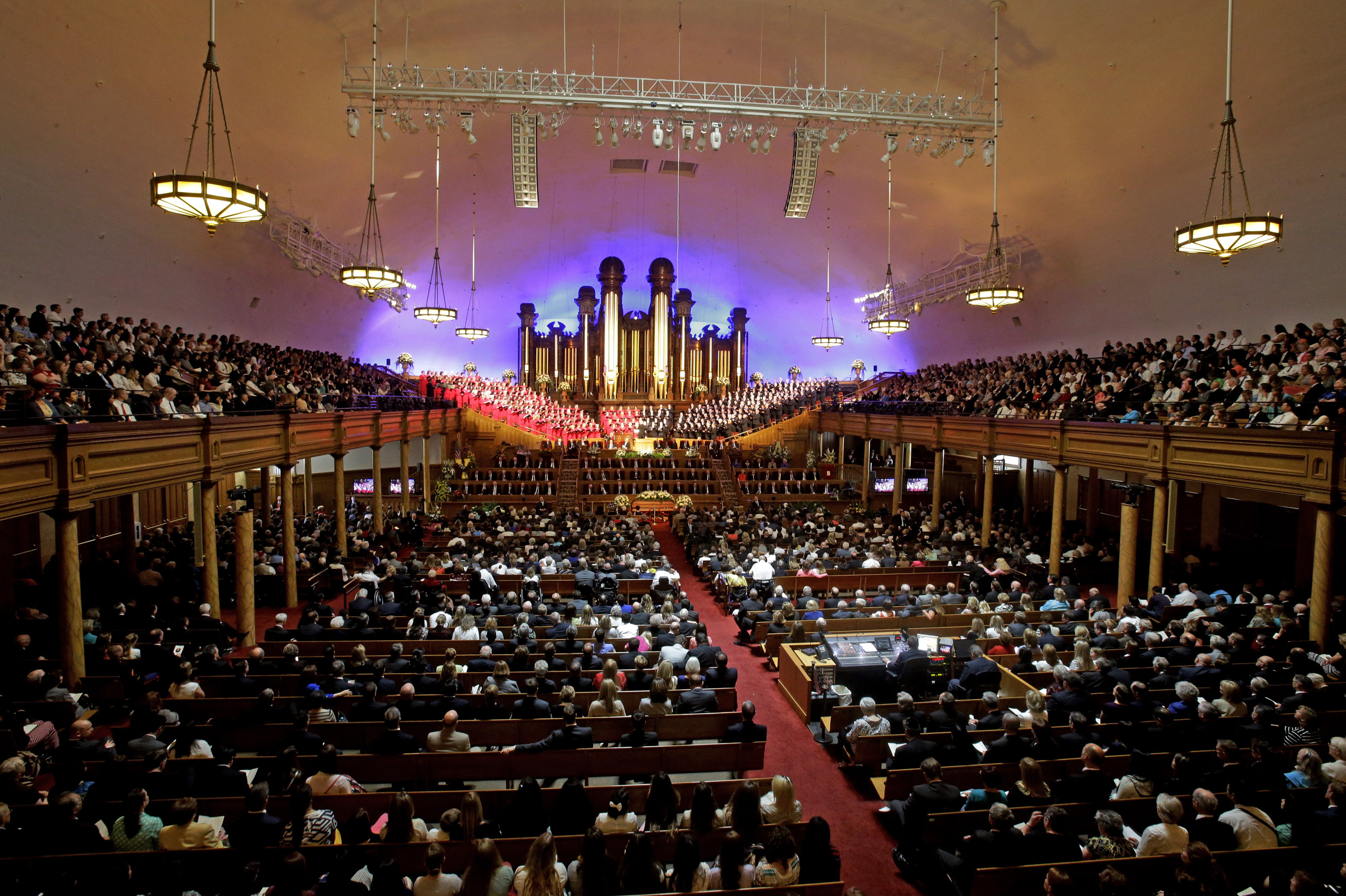 A public funeral is held for Mormon leader L. Tom Perry on June 5 at the Salt Lake Tabernacle in Salt Lake City, Utah. Perry was a member of The Church of Jesus Christ of Latter-day Saints' highest governing body, the Quorum of the Twelve Apostles. He died at the age of 92 from cancer. The recent deaths of several high-ranking church leaders are expected to prompt new appointments. Rick Bowmer/AP