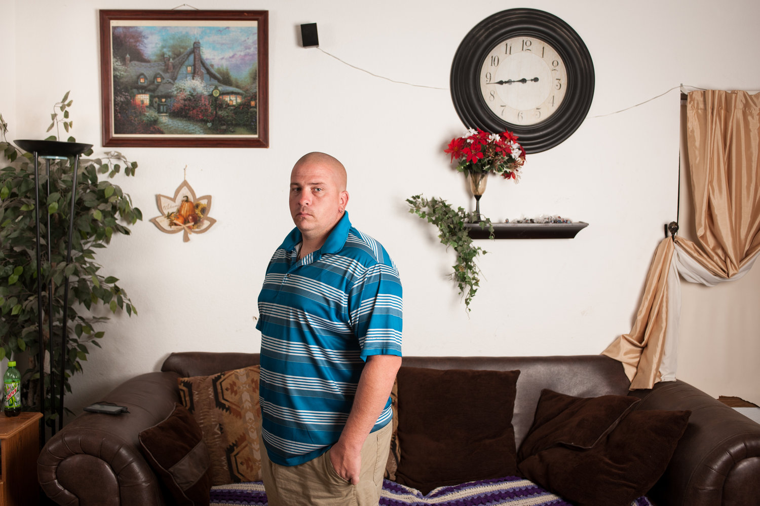 James Vanni, at his home in Colorado Springs, Colo. Theo Stroomer for NPR