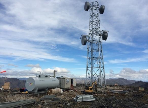 A TERRA network radio tower. (Photo courtesy of GCI)