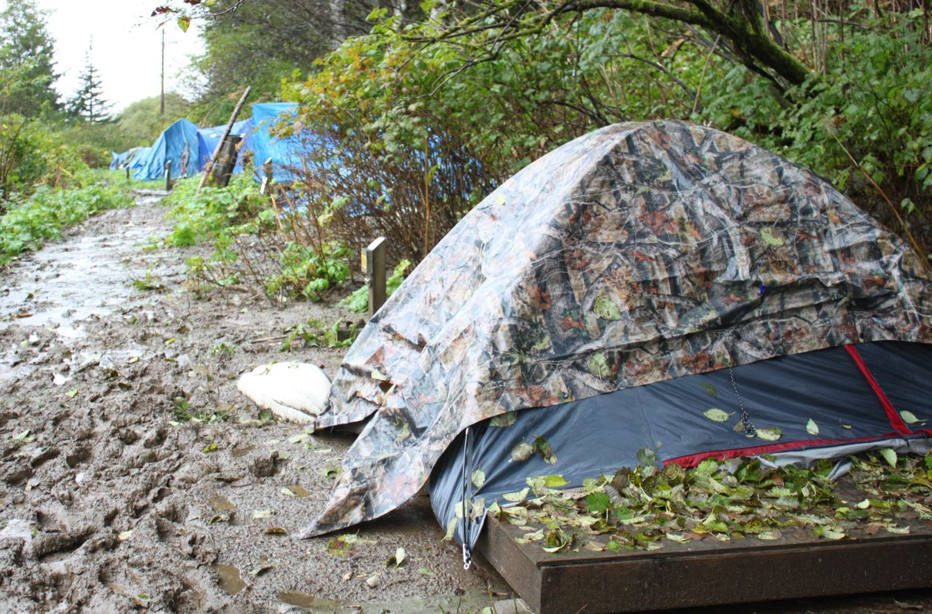 The Thane Campground is primarily used for housing, not recreation. It closes for the season Oct. 15. (Photo by Lisa Phu/KTOO)