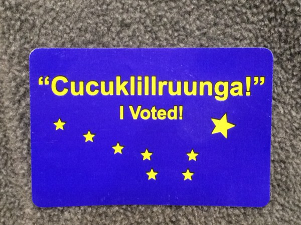 Yupik I Voted sticker