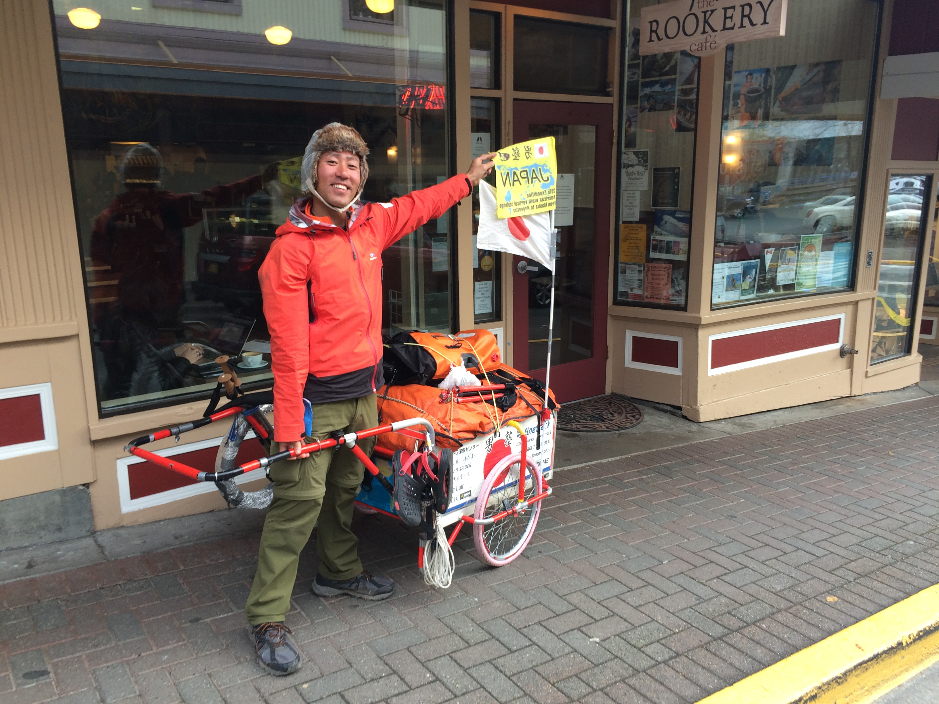 Sasaki is visitng Juneau before heading to Argentina. (Photo by Scott Burton/KTOO)