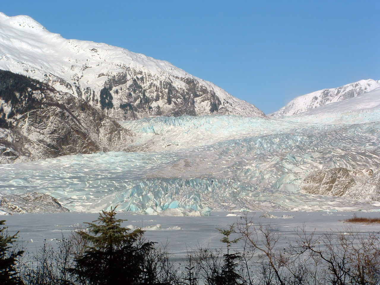View of Mendenhall Glacier in wintertime. (Creative Commons photo)