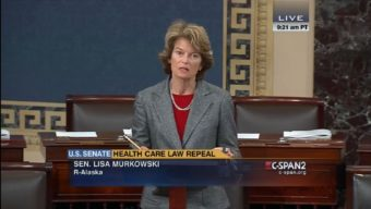 Sen. Lisa Murkowski addresses a bill to repeal the Affordable Care Act