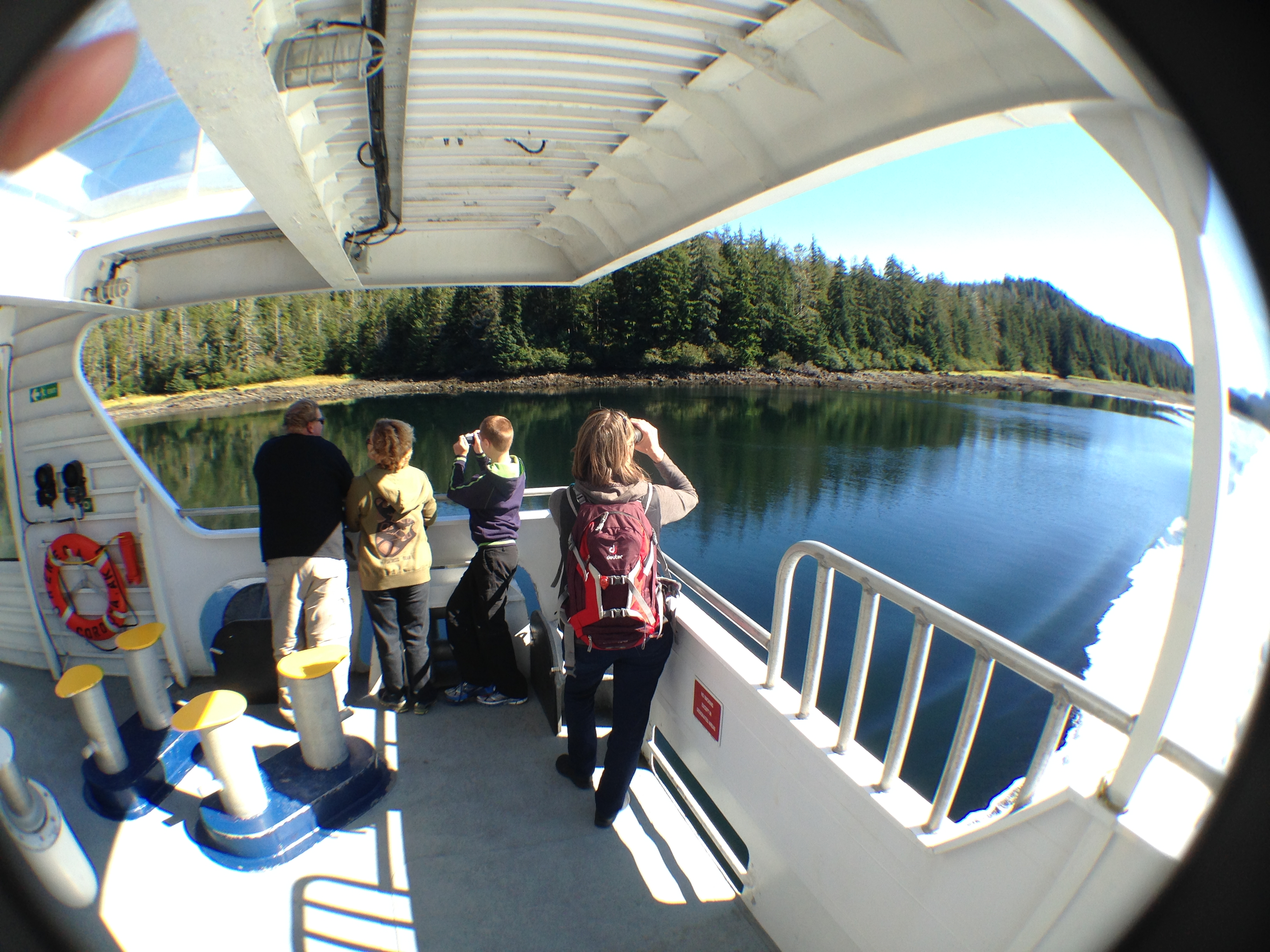 Passengers enjoy the scenery during a Sept. 3 fast ferry Chenega sailing between Sitka and Juneau. Sitka would lose most of its ferry stops under a schedule based on a reduced budget proposed by Gov. Bill Walker.