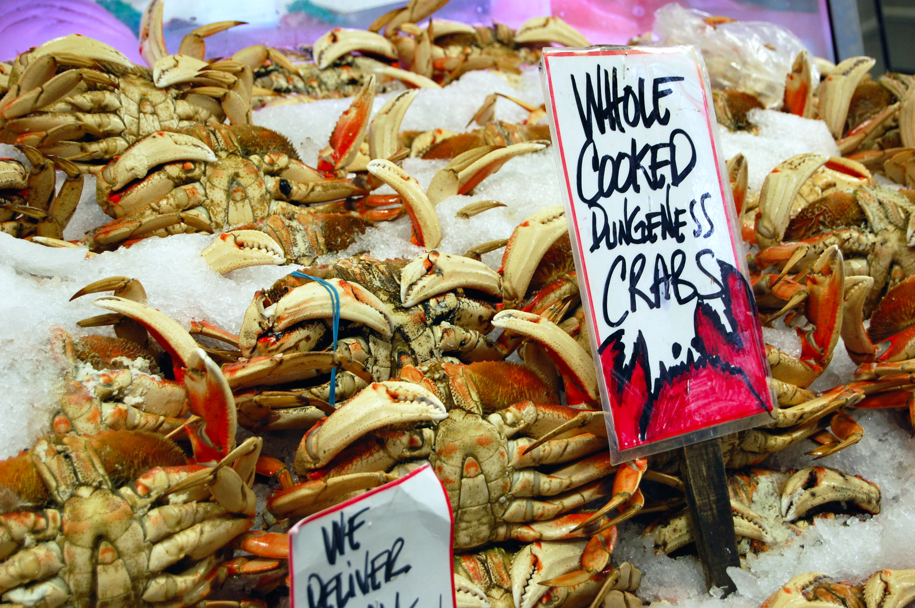 Dungeness crab at Pike Place Market