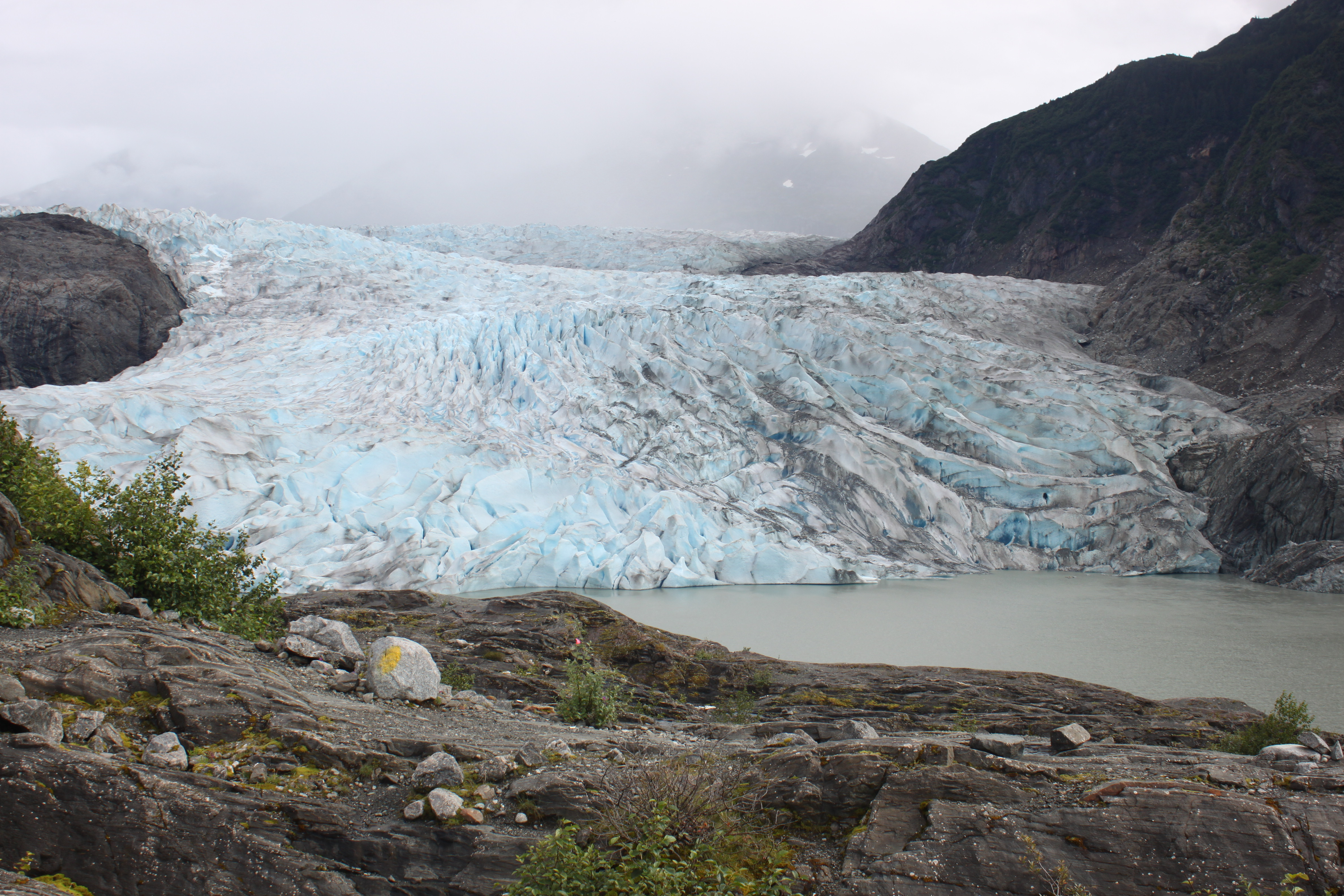 Six short plays on climate change will be read at the Mendenhall Glacier pavilion. (Photo by Lisa Phu/KTOO)