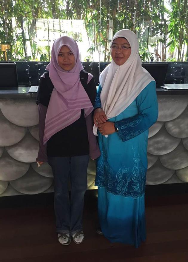 Rahinah Ibrahim with Rafeah Mustafa Kamal