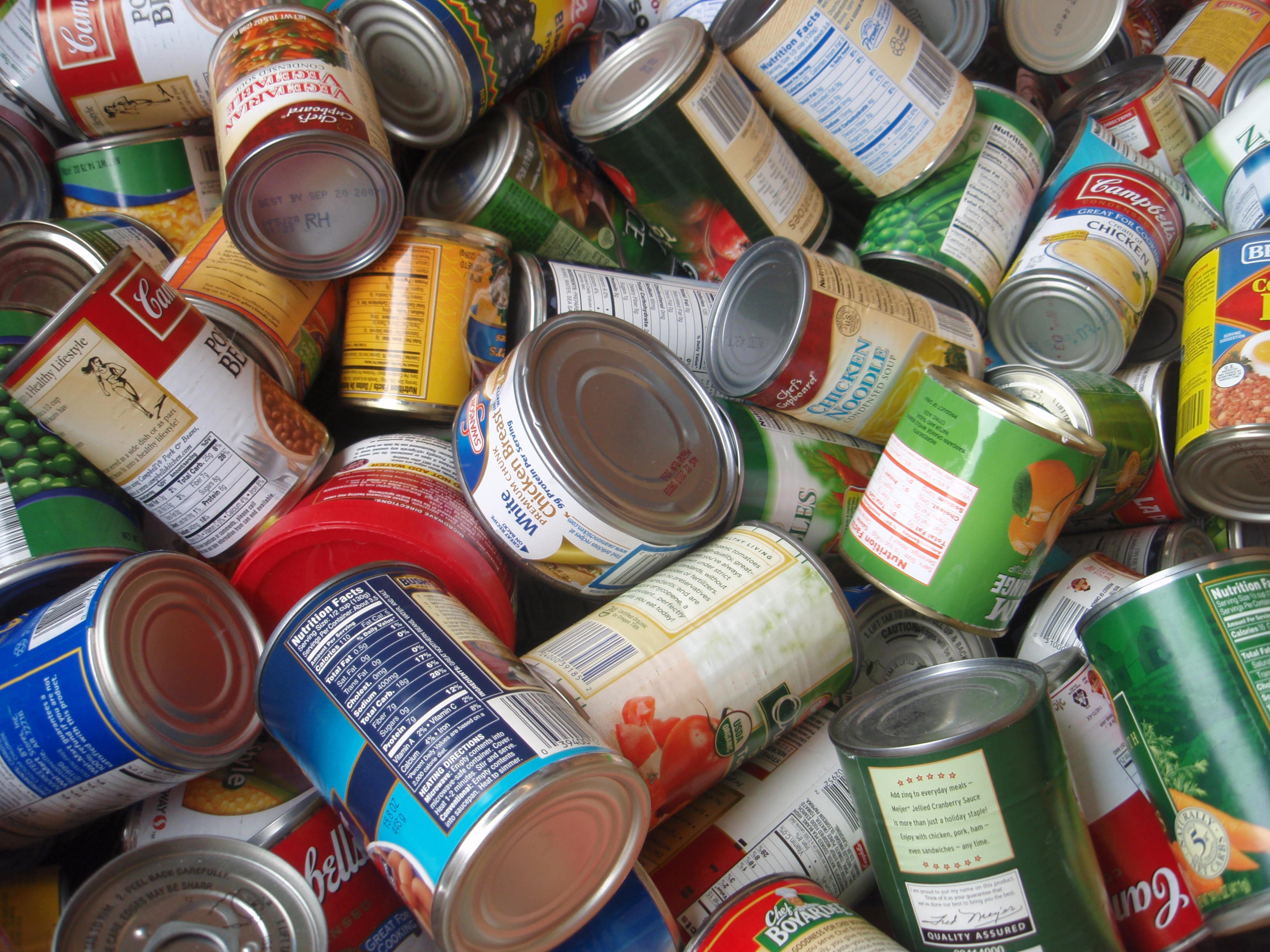 Donated canned food