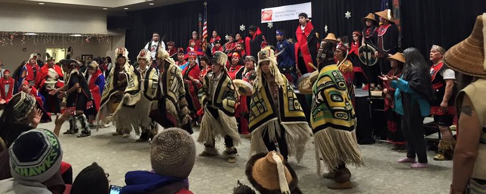 About 400 people attended the Glory Hole fundraiser Monday night at the Elizabeth Peratrovich Hall. Five local Native dance groups organized the event, raising about $32,000. (Photo by Anne Stepetin)