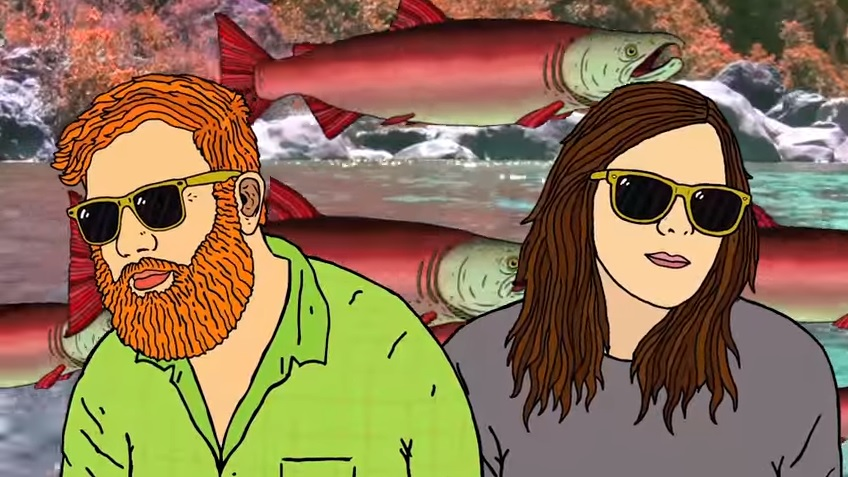 A screen shot of the new video from southeast Alaskan electronic band Whiskey Class. (Courtesy of the artist.)