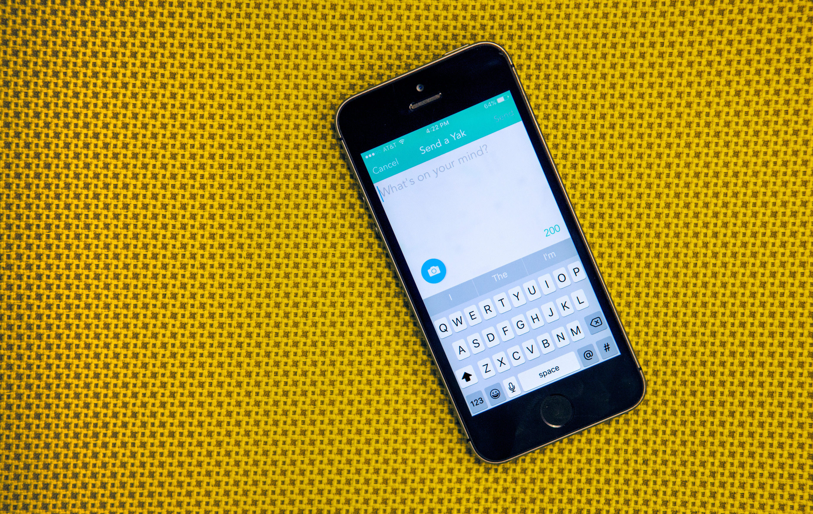 The Yik Yak app allows users to post anonymous messages, and to read anonymous messages posted in their current location. Ariel Zambelich/NPR