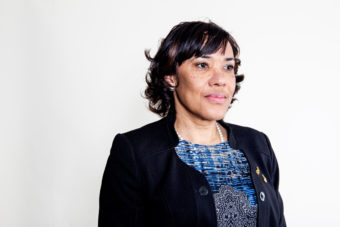 Karen Weaver was elected mayor of Flint, Mich., after promising to address the city's water-contamination issues. Ariel Zambelich/NPR