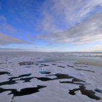 The clouds begin to thin over the Arctic Ocean Aug. 19, 2009.
