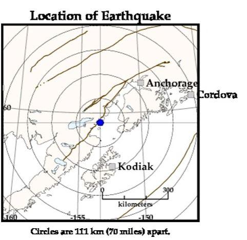 Earthquake map 1/24/2016