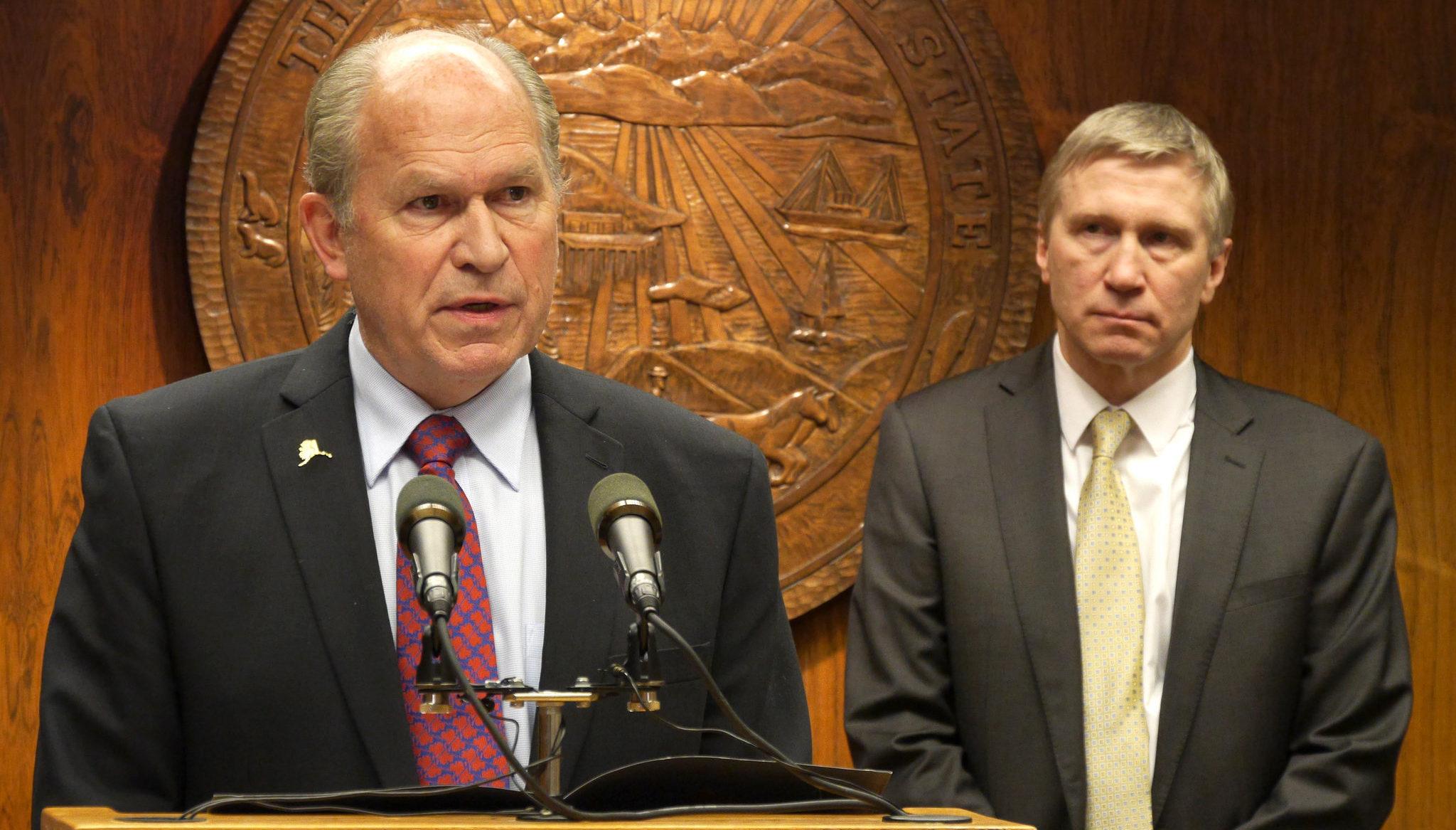 Gov Bill Walker and Dean Williams