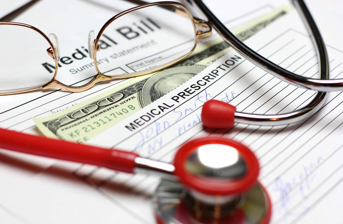 Healthcare cost stethoscope bill