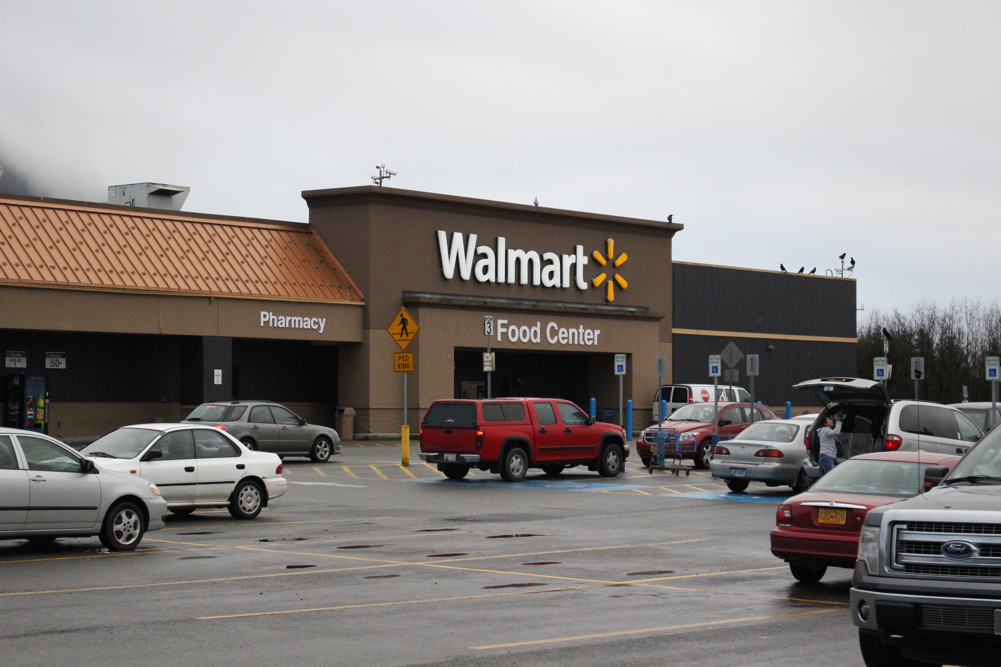 The Juneau Wal-Mart was previously a K-Mart store. It's unknown what will happen to the building. (Photo by Elizabeth Jenkins/KTOO)