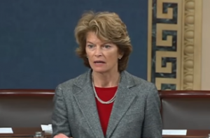 Sen. Lisa Murkowski speaks on the senate floor. (Screenshot)