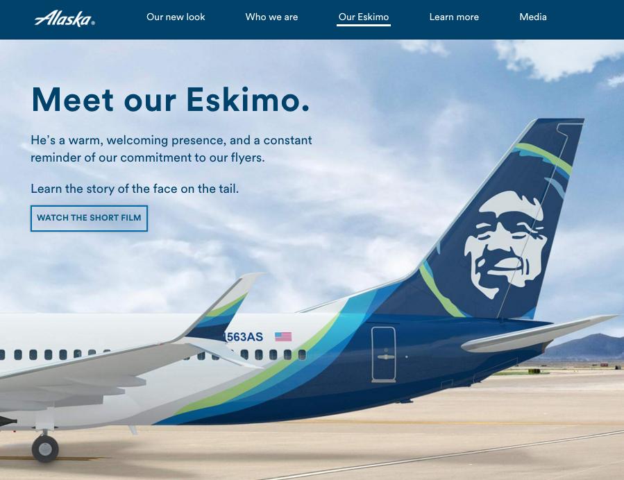 "Alaska Airlines ""Meet our Eskimo"""