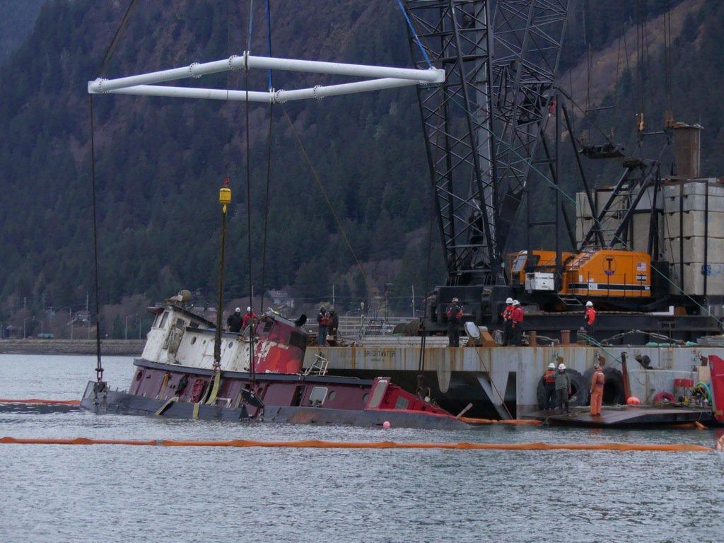 Raising and salvage of Tug Challenger