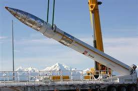 A missile is loaded at Alaska's Fort Greely.  (Photo courtesy Missile Defense Agency)