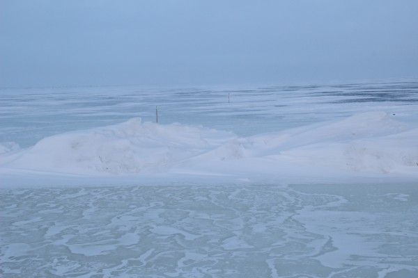 Kuparul-Alpine ice road on the North Slope