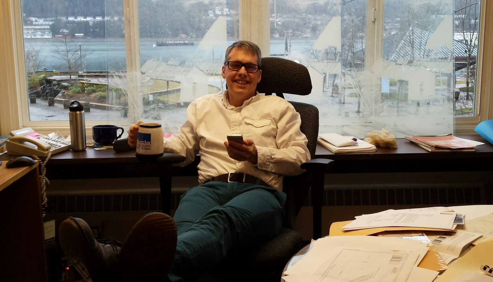 "Rorie Watt said he's ""terribly excited"" to be Juneau's next city manager. (Photo by Autumn Sapp)"