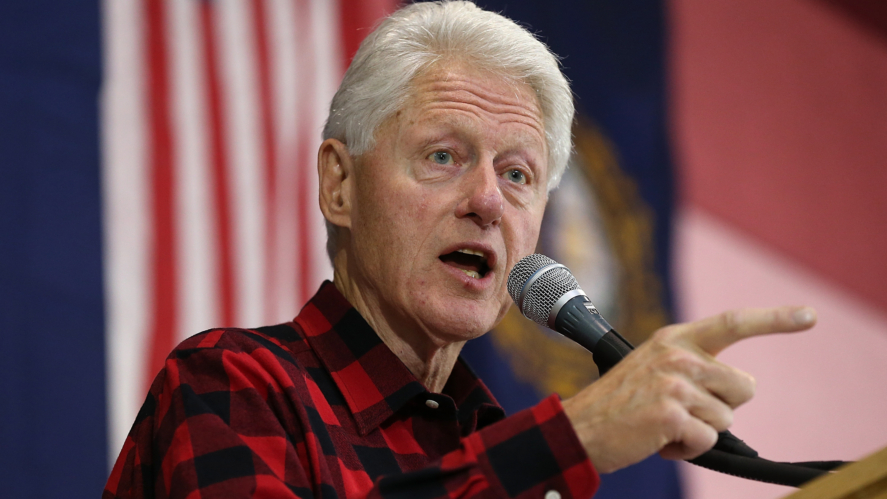 Former President Bill Clinton campaigns for his wife, Hillary Clinton, on Sundayin Milford, NH. (Win McNamee/Getty Images)