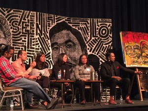 Panelists from around the world discuss steps toward achieving racial equity during a recent Anchorage Summit. (Photo by Anne Hillman/KSKA
