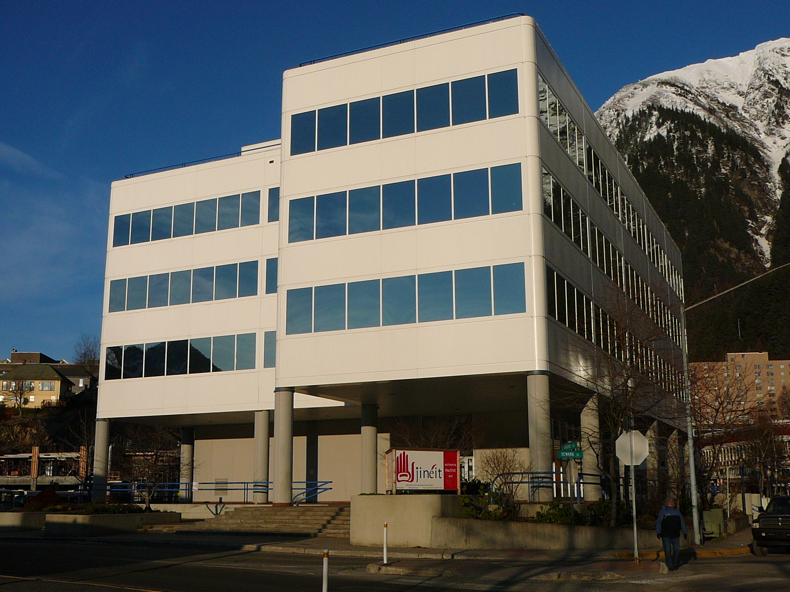 Sealaska Plaza, headquarters of the Southeast regional Native corporation, in Juneau. (Photo by Ed Schoenfeld/CoastAlaska News)