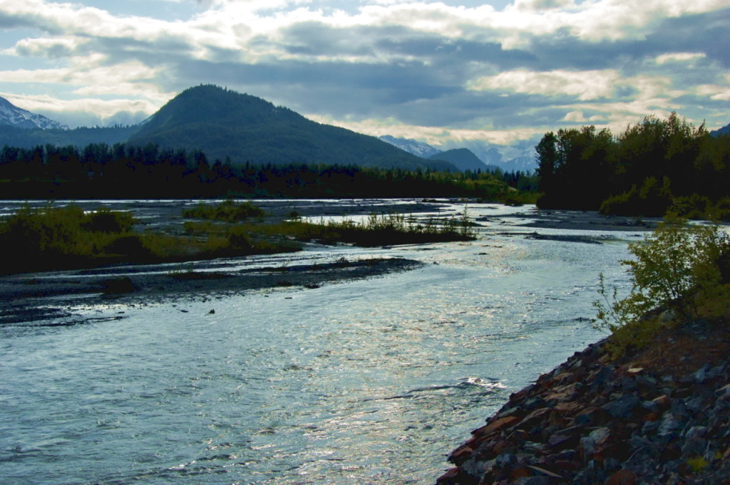 The Chilkat River in 2009. The river is one of the four bodies of water nominated for Tier 3 protection. (Creative Commons photo by Dave Bezaire)
