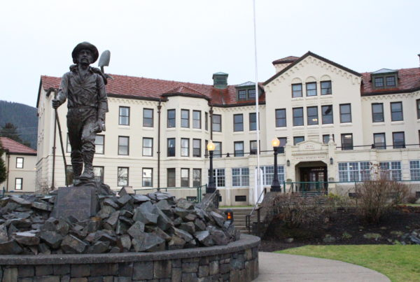 The Sitka Pioneer Home was the first such facility. Five others operate in Ketchikan, Juneau, Anchorage, Wasilla and Fairbanks. (Photo by Emily Kwong/KCAW)